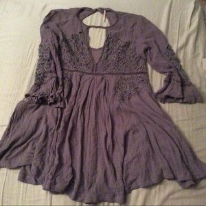 Rare lavender gray free people lace dress! Xs